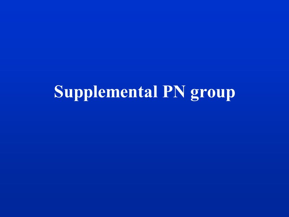 Supplemental PN group