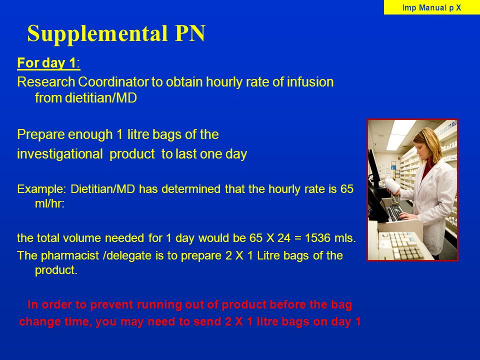 Supplemental PN For day 1: