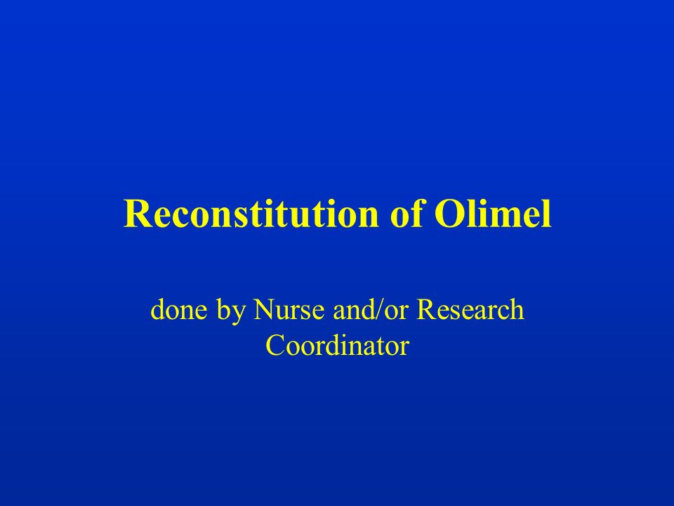 Reconstitution of Olimel