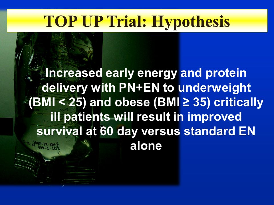 TOP UP Trial: Hypothesis