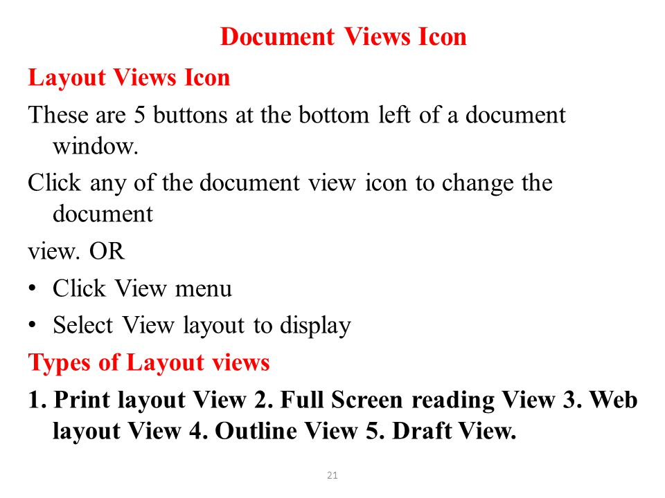 Document Views Icon Layout Views Icon