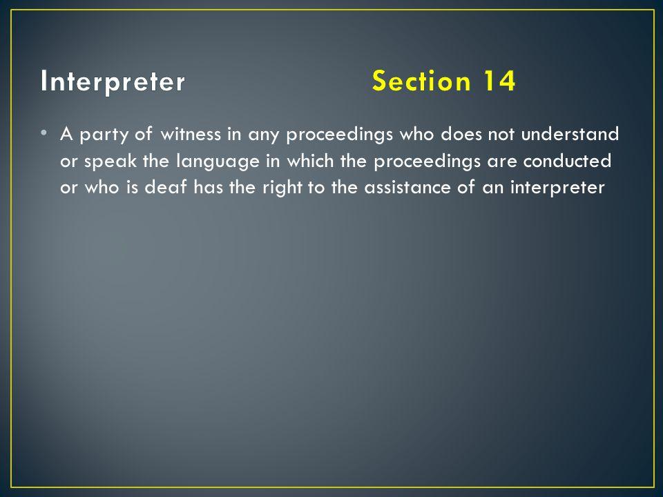 Interpreter Section 14