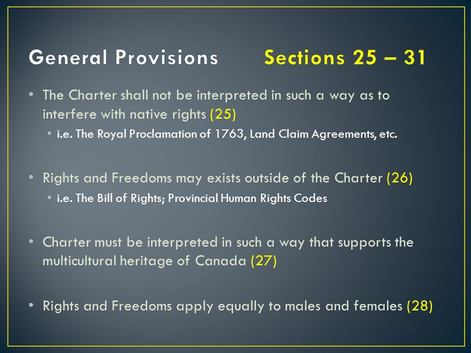 General Provisions Sections 25 – 31
