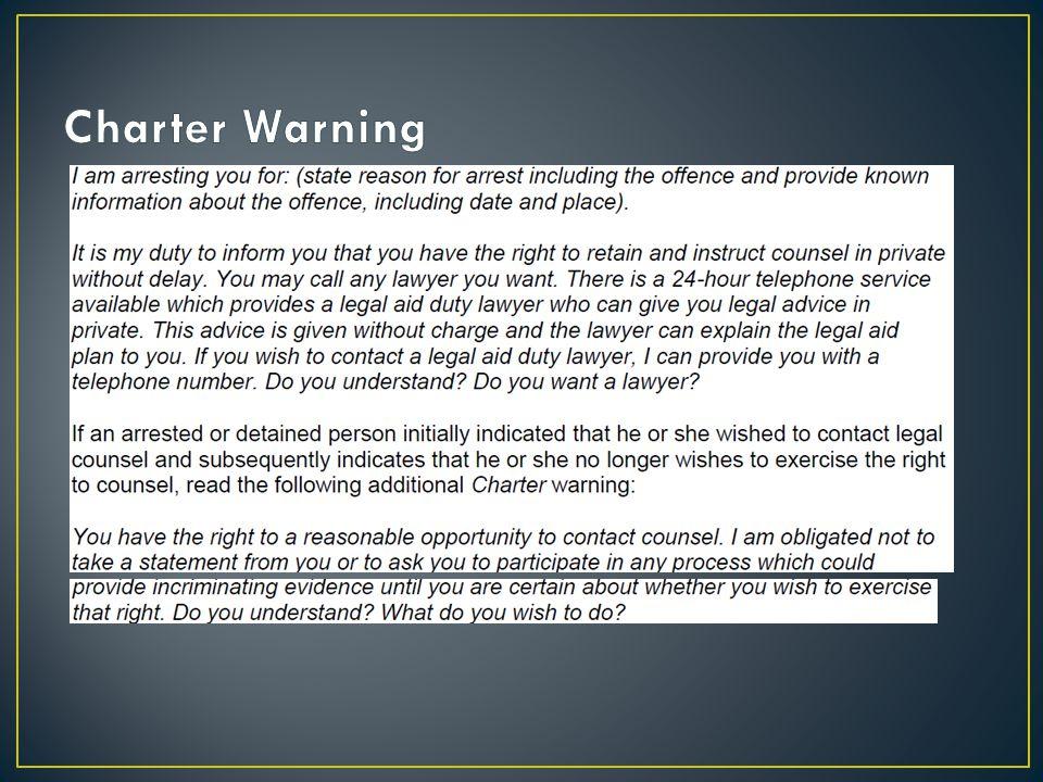 Charter Warning