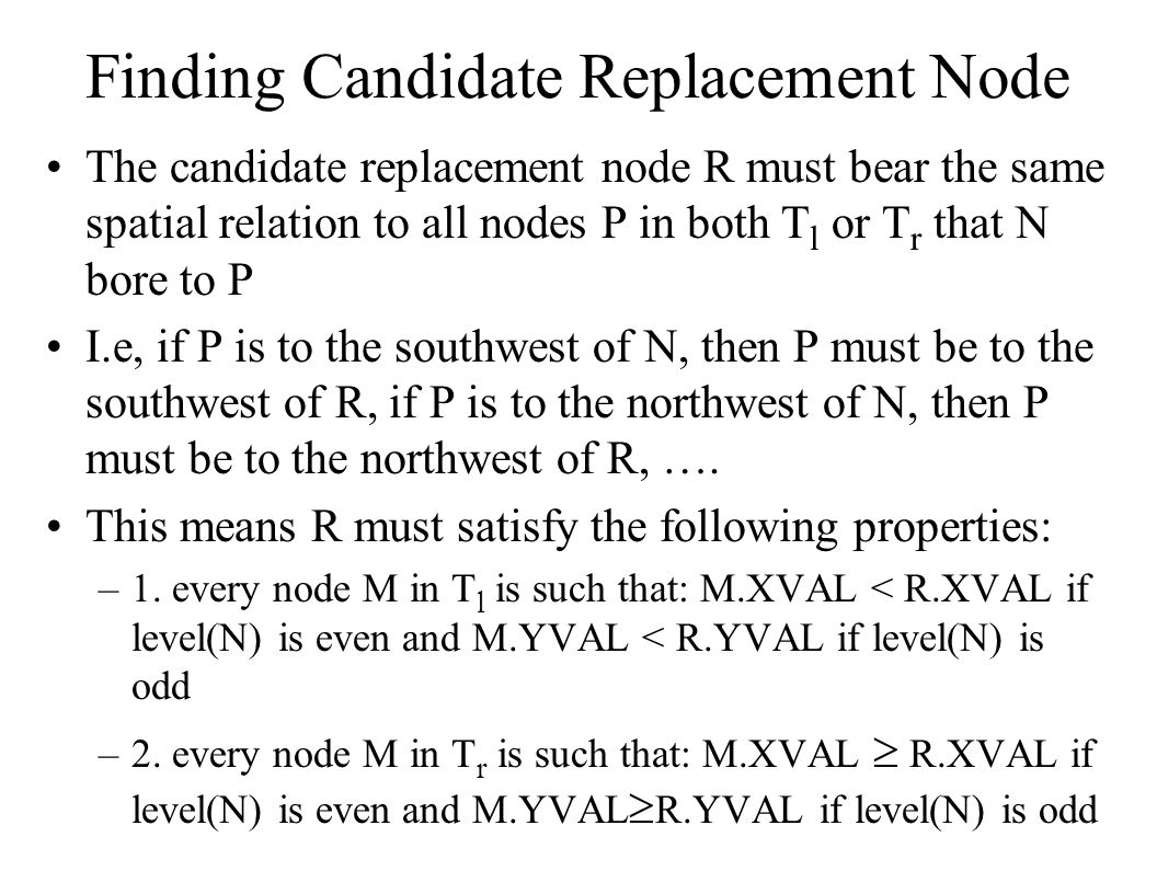 Finding Candidate Replacement Node