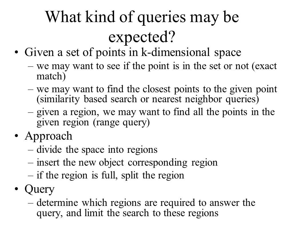 What kind of queries may be expected