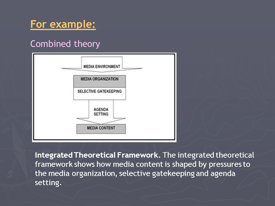 For example: Combined theory