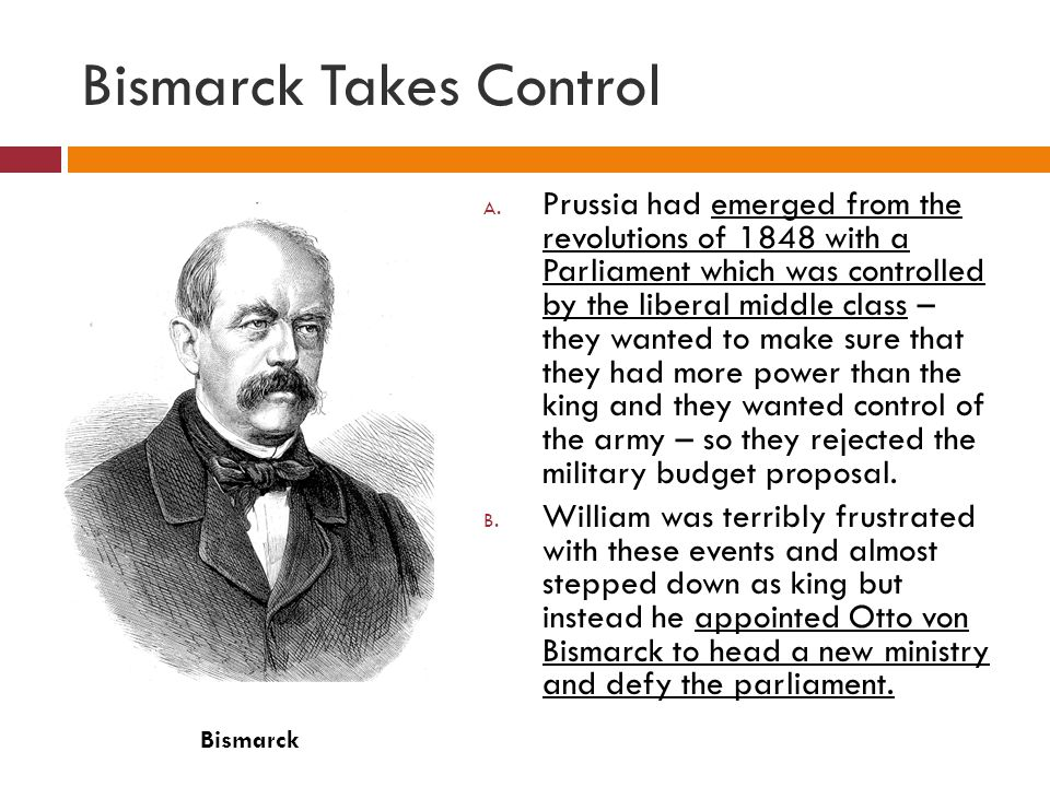 Bismarck Takes Control