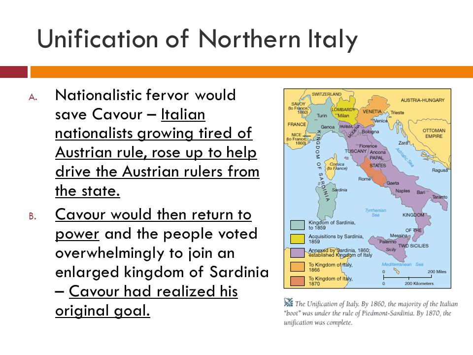 Unification of Northern Italy