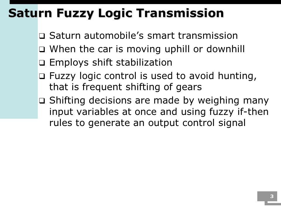 Saturn Fuzzy Logic Transmission