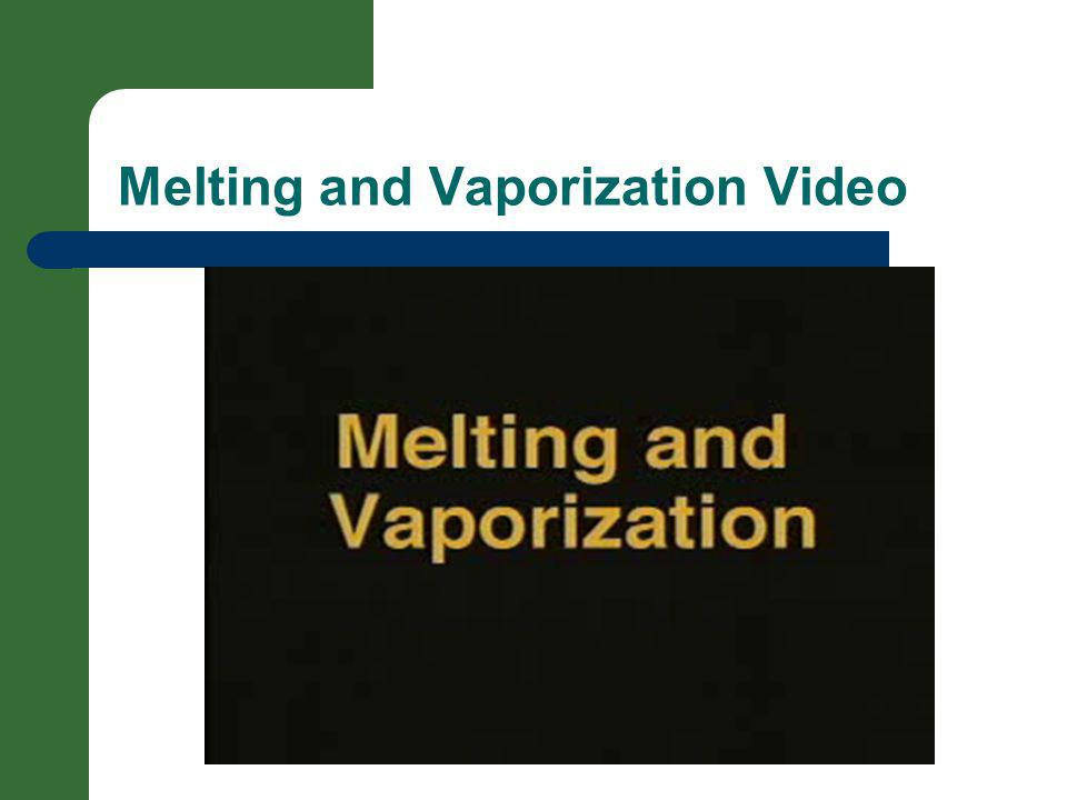 Melting and Vaporization Video