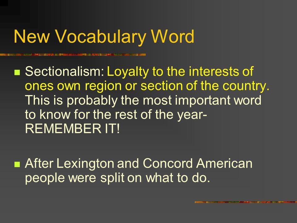 New Vocabulary Word