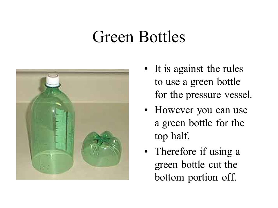 How to build a water bottle rocket ppt video online download for Cut top off bottle
