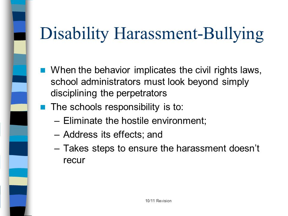 Disability Harassment-Bullying