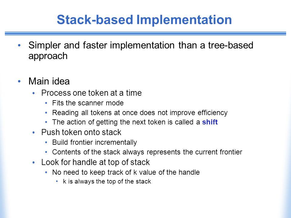 Stack-based Implementation