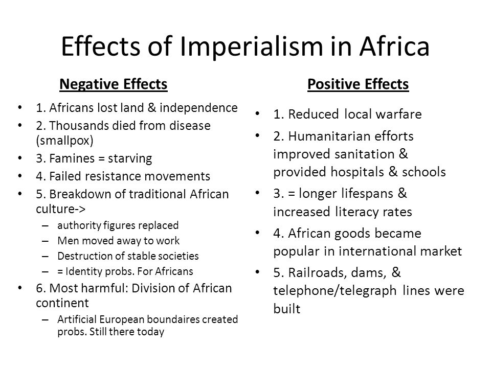 Effects of Imperialism in Africa