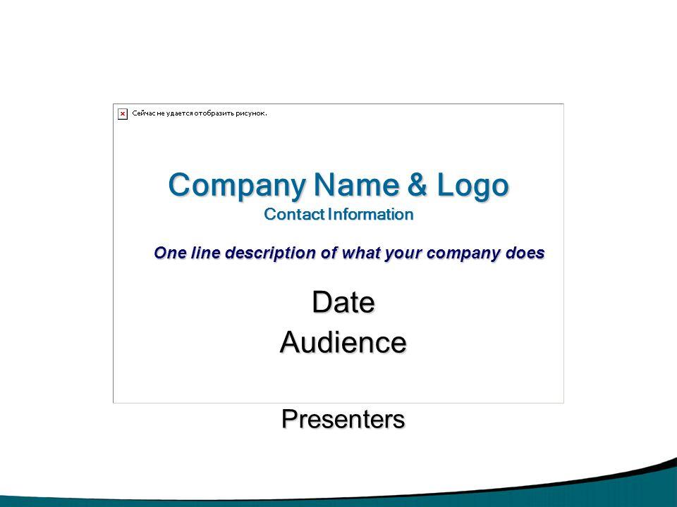 Date Audience Presenters