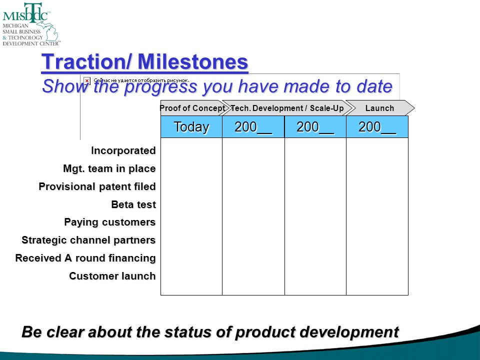 Traction/ Milestones Show the progress you have made to date