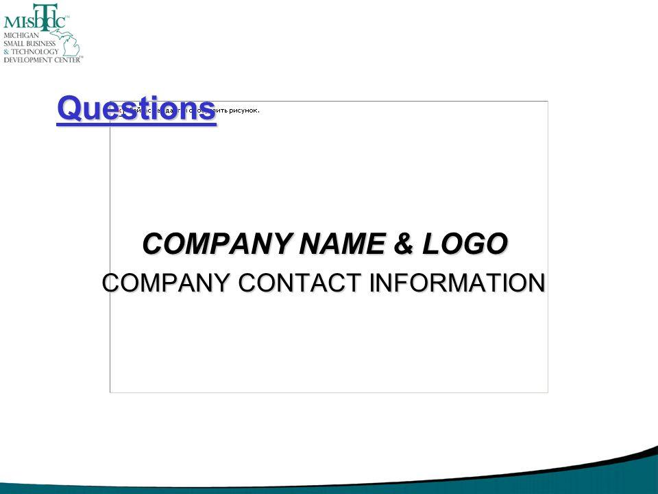 Questions COMPANY NAME & LOGO