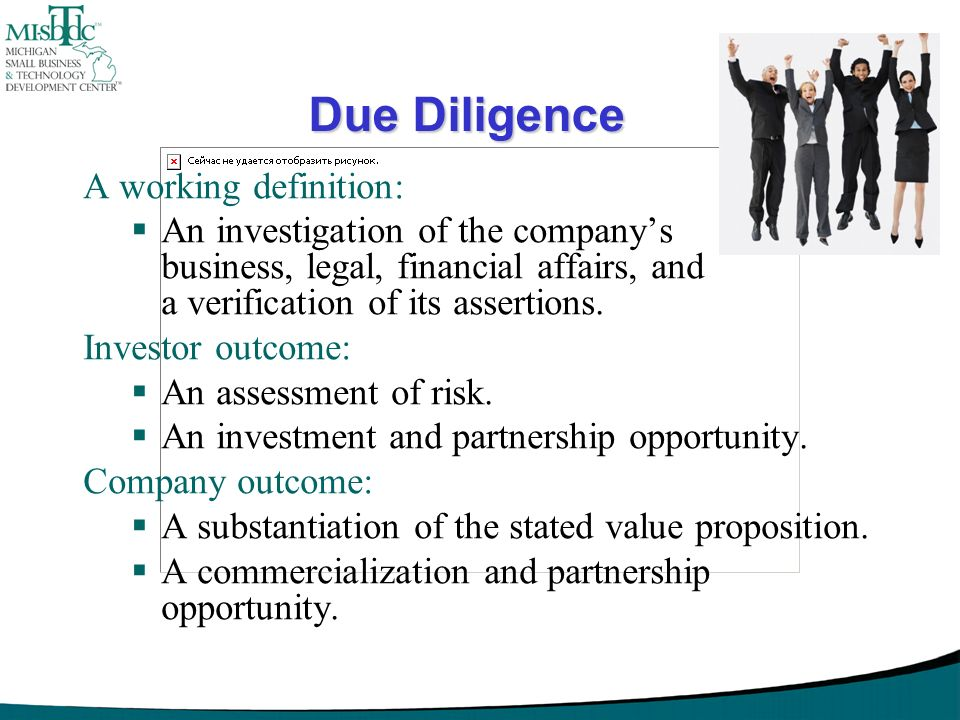 Due Diligence A working definition: