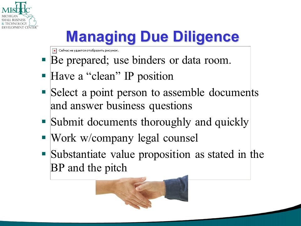 Managing Due Diligence