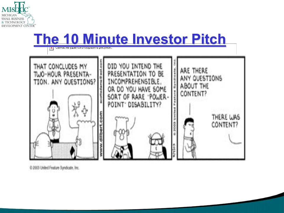 The 10 Minute Investor Pitch