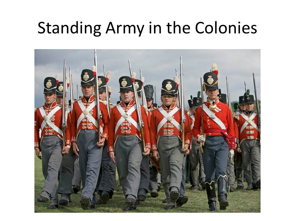 Standing Army in the Colonies