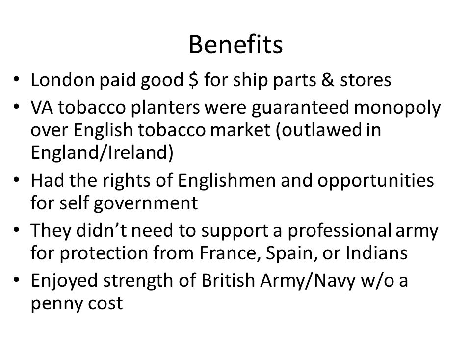 Benefits London paid good $ for ship parts & stores