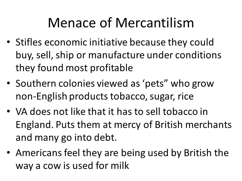Menace of Mercantilism