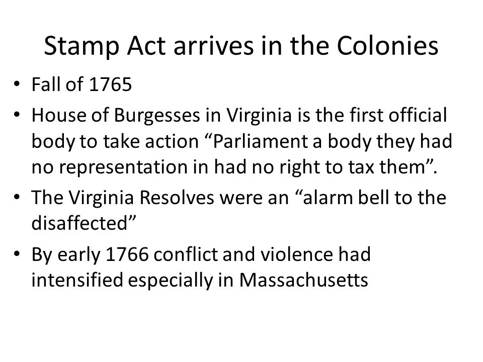 Stamp Act arrives in the Colonies