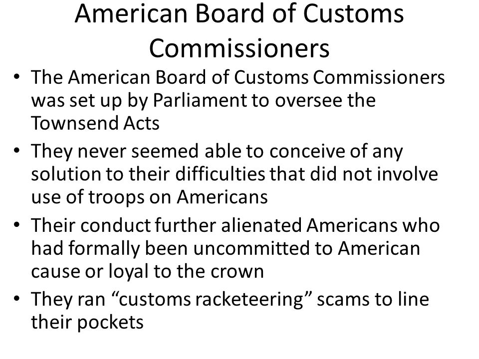 American Board of Customs Commissioners