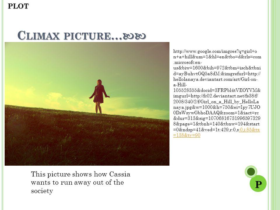 Climax picture… P PLOT