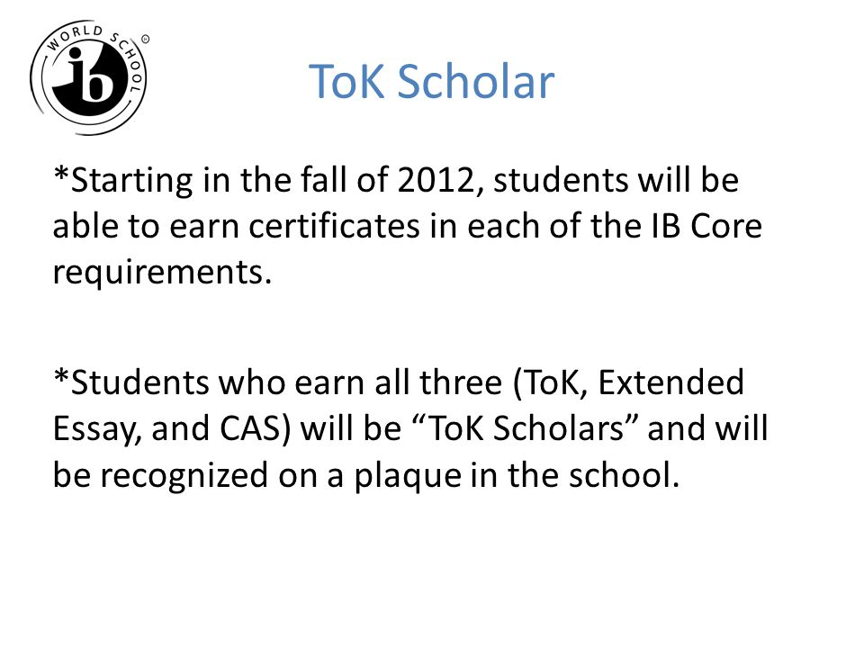 ToK Scholar