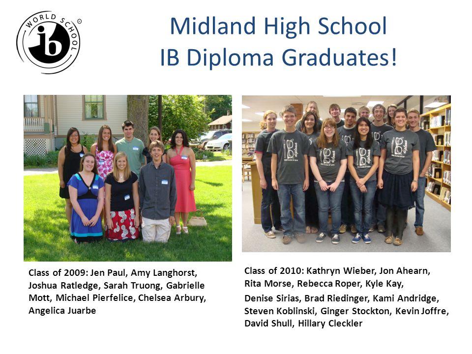 Midland High School IB Diploma Graduates!