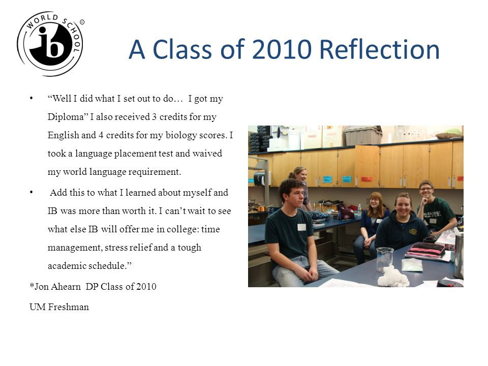 A Class of 2010 Reflection