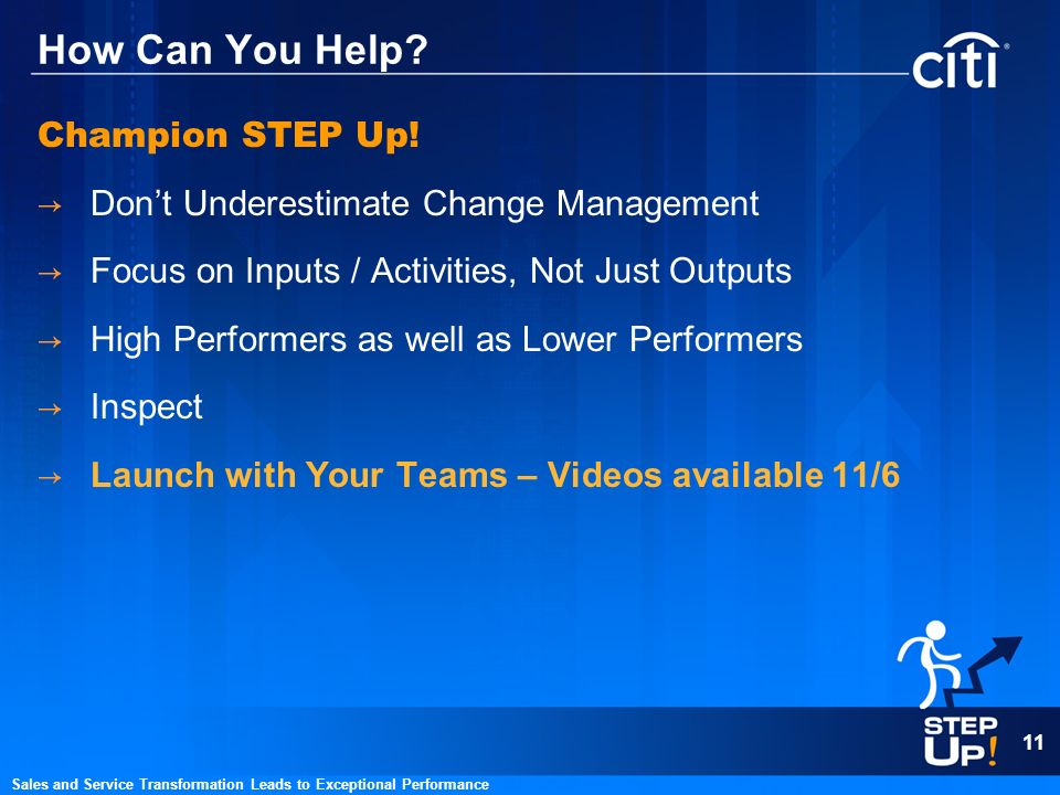 How Can You Help Champion STEP Up!