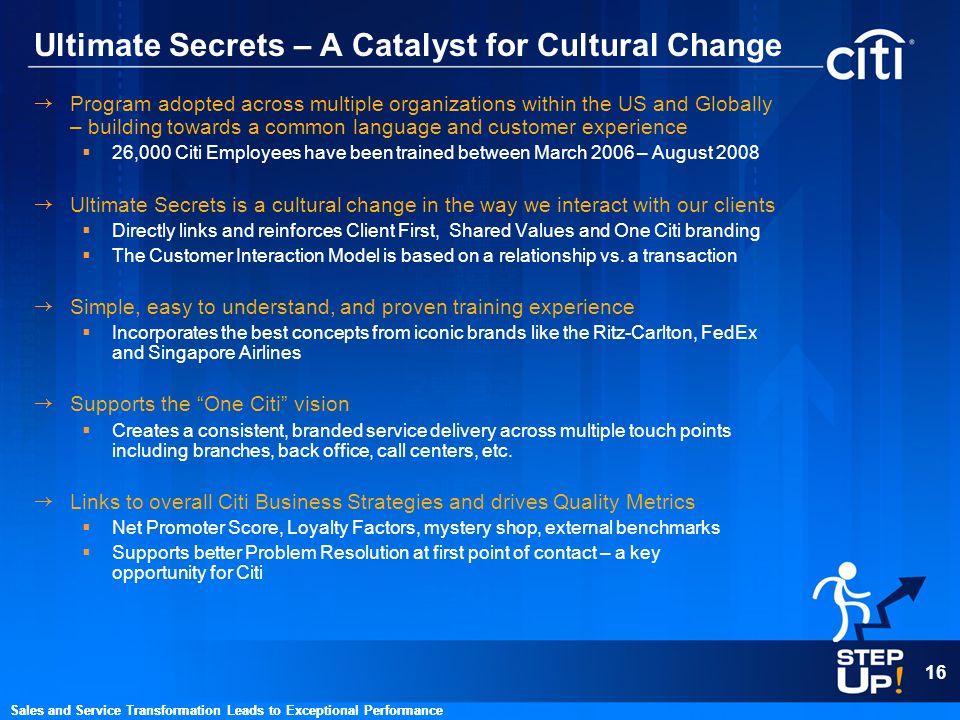 Ultimate Secrets – A Catalyst for Cultural Change