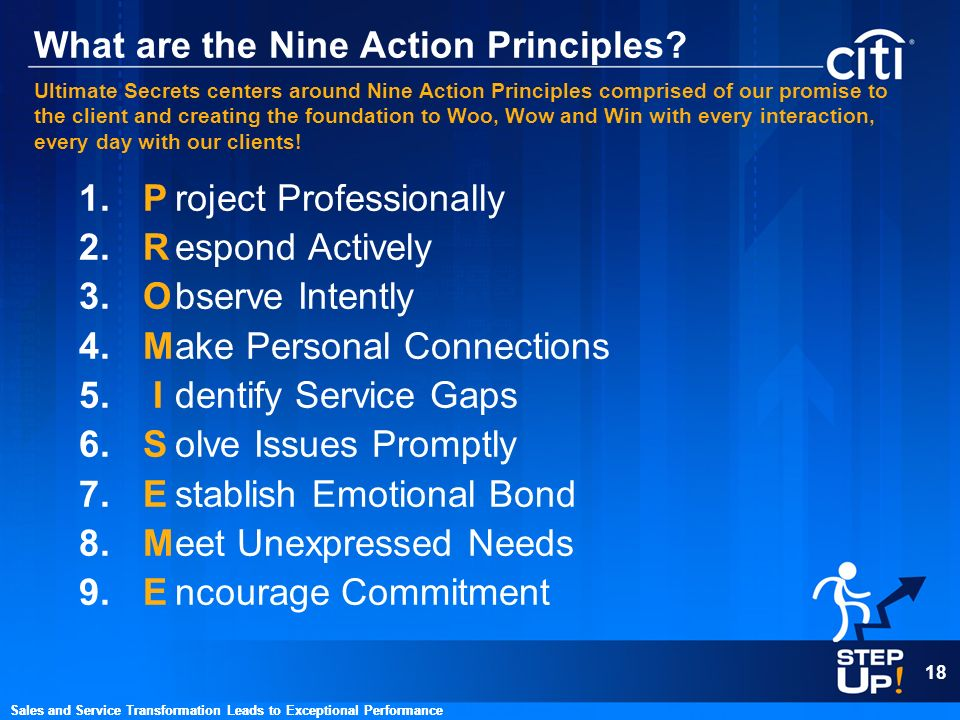 What are the Nine Action Principles