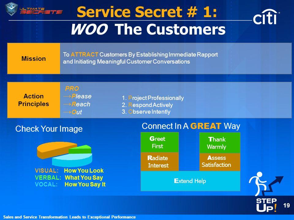 Service Secret # 1: WOO The Customers