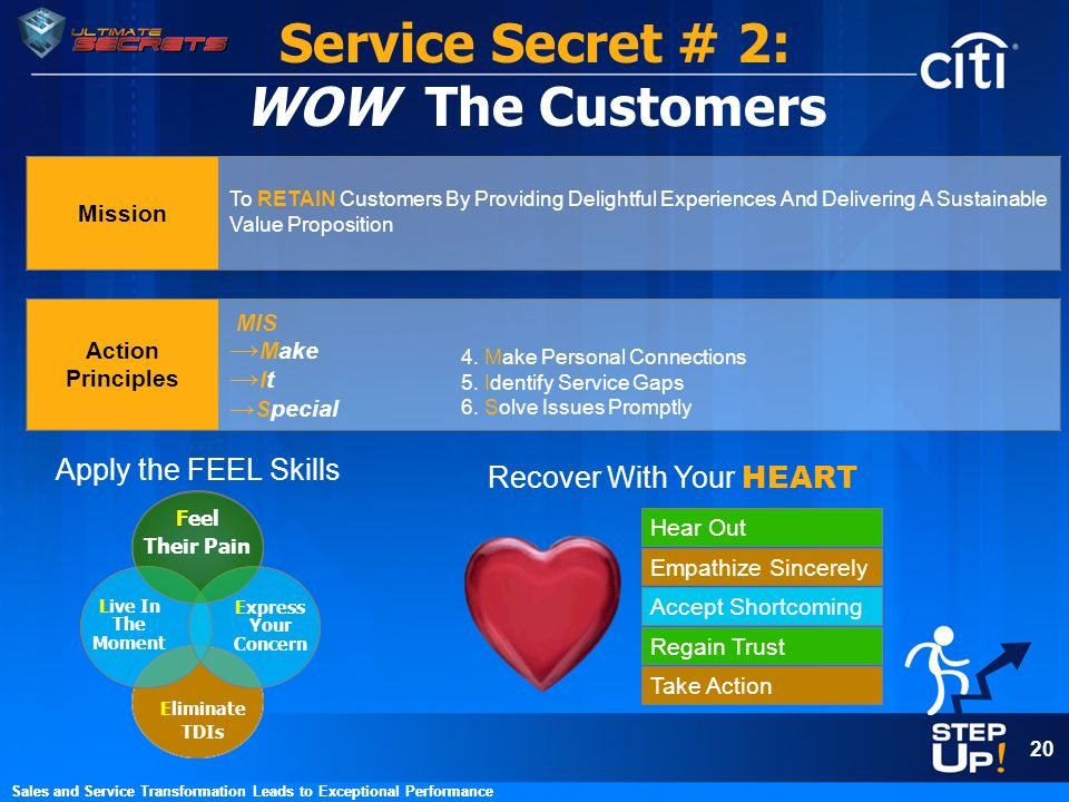 Service Secret # 2: WOW The Customers