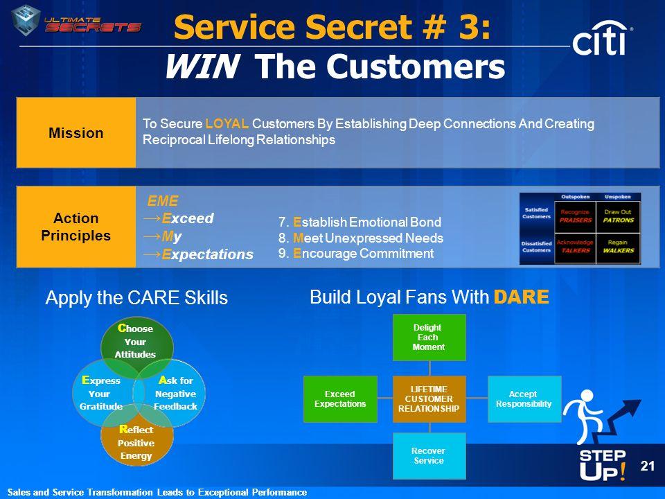 Service Secret # 3: WIN The Customers