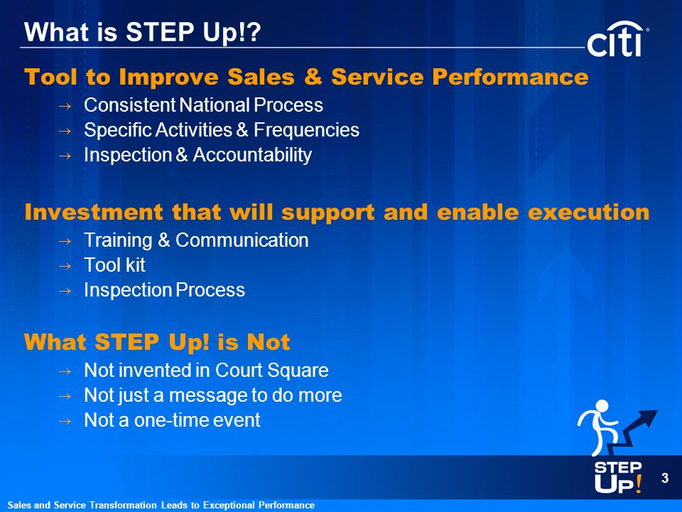 What is STEP Up! Tool to Improve Sales & Service Performance