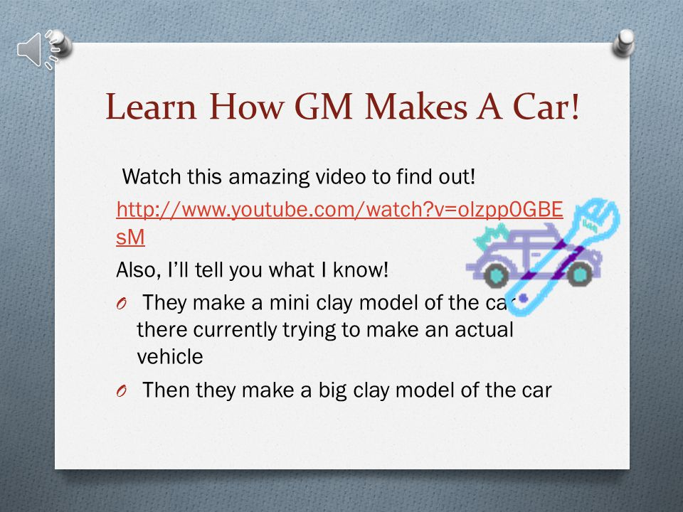 Learn How GM Makes A Car! Watch this amazing video to find out!