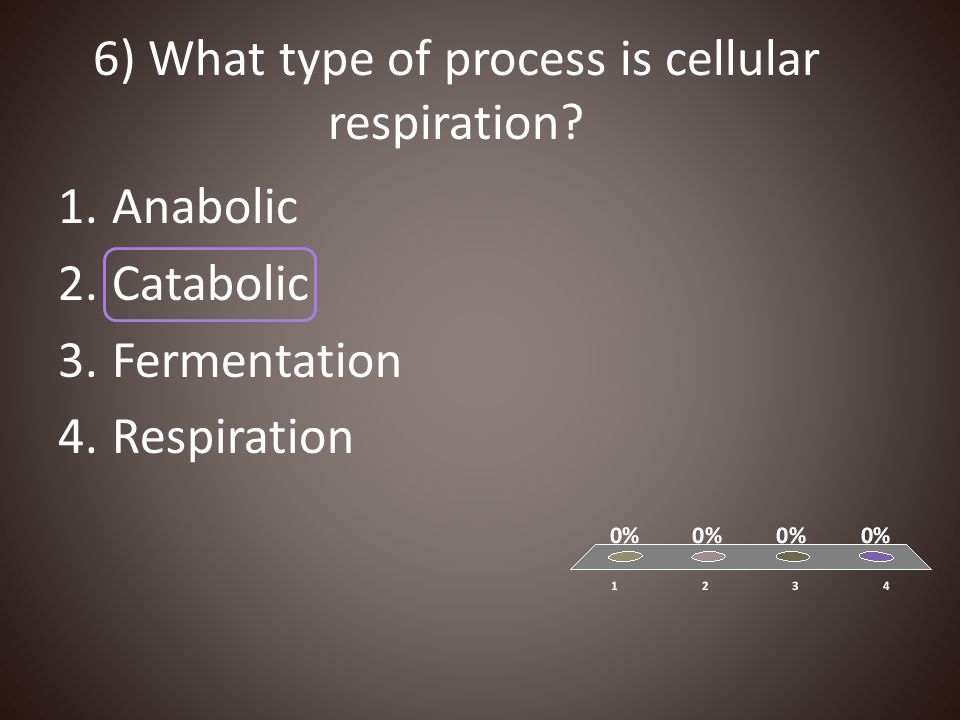 6) What type of process is cellular respiration