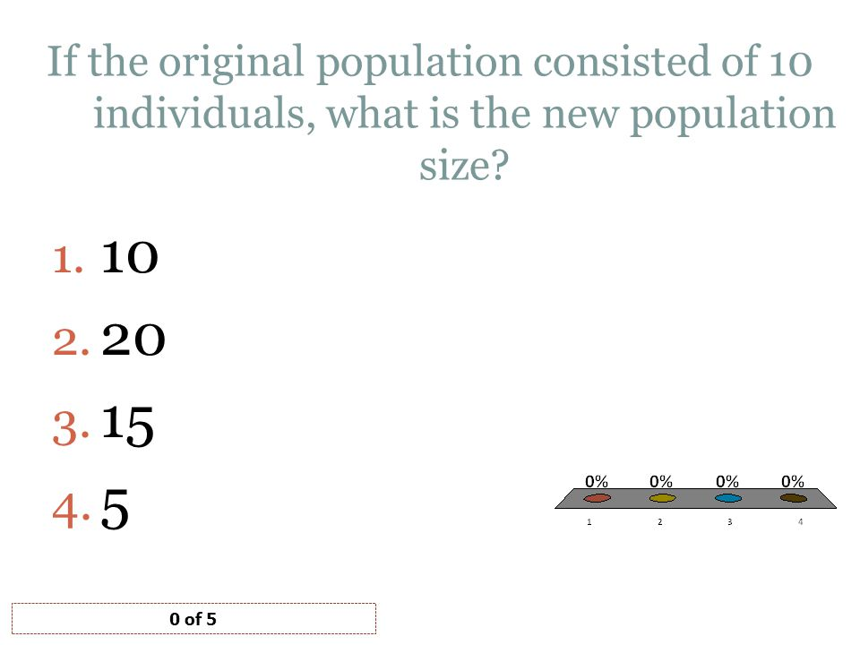 If the original population consisted of 10 individuals, what is the new population size