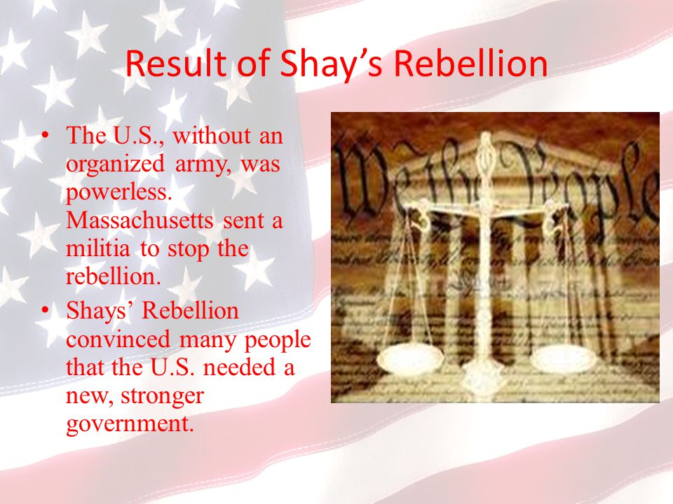 Result of Shay's Rebellion