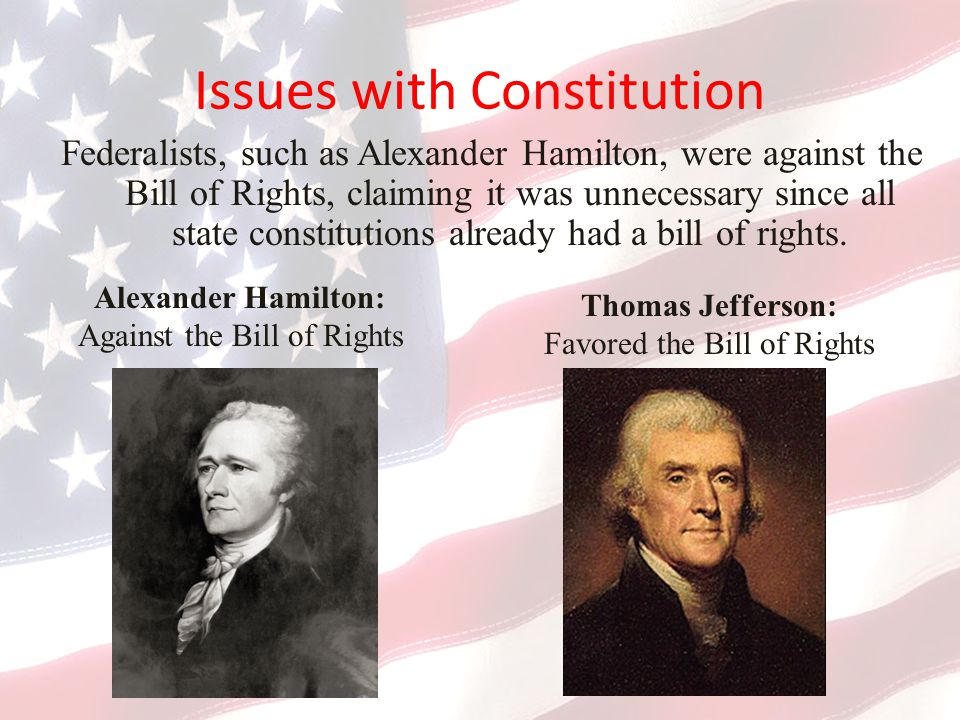 Issues with Constitution