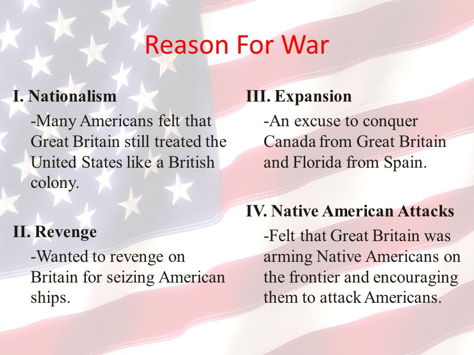 Reason For War I. Nationalism