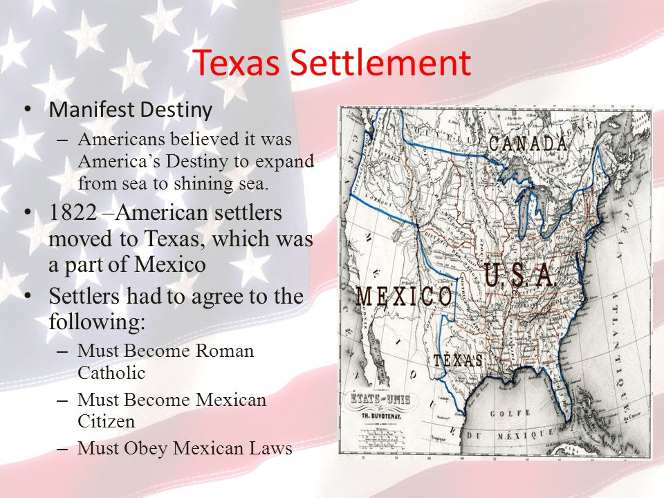 Texas Settlement Manifest Destiny
