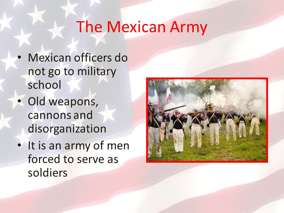 The Mexican Army Mexican officers do not go to military school